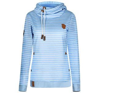 Stripe sweater | Super comfy sweater voor een hippe & casual look lichtblauw