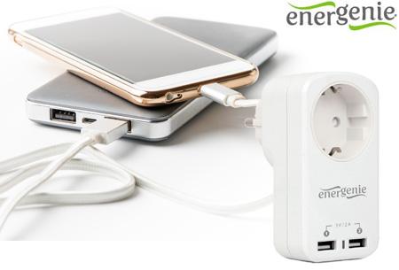 Stopcontact inclusief 2 USB-poorten