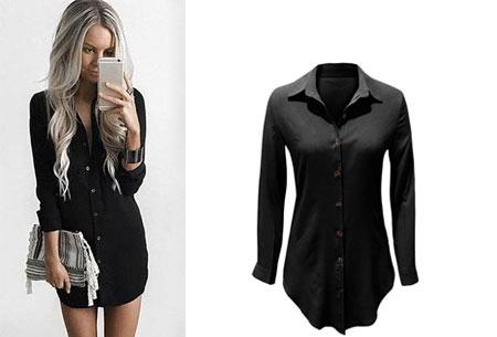 Lange blouse | Fashionable key-item voor jouw garderobe zwart