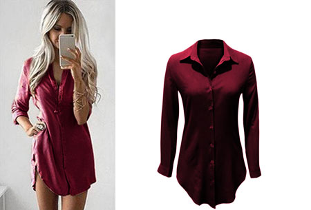 Lange blouse | Fashionable key-item voor jouw garderobe wijnrood