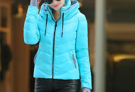 Gewatteerde dames winterjas | Warm & stijlvol! Blauw