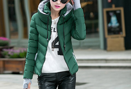 Gewatteerde dames winterjas | Warm & stijlvol! Donkergroen