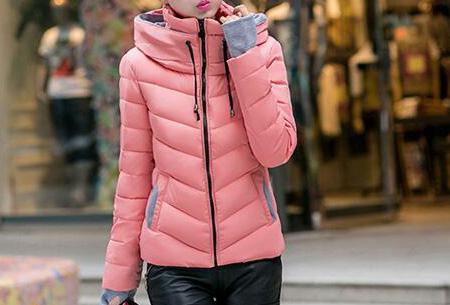 Gewatteerde dames winterjas | Warm & stijlvol! Roze