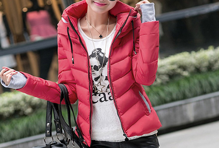 Gewatteerde dames winterjas | Warm & stijlvol! Wijnrood