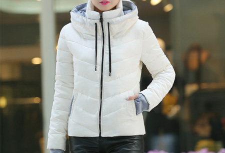 Gewatteerde dames winterjas | Warm & stijlvol! Wit