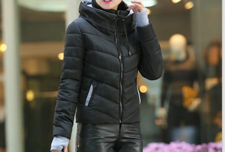 Gewatteerde dames winterjas | Warm & stijlvol! Zwart