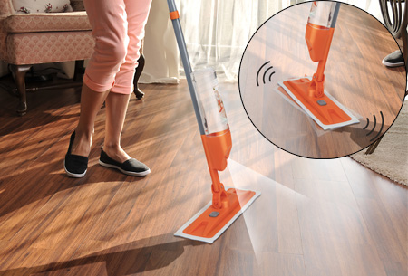 Turbo vibration spray mop