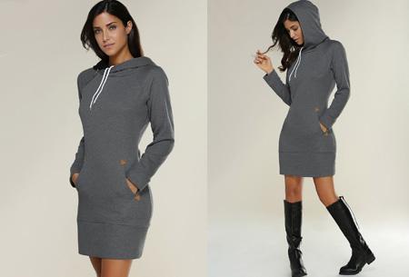 Comfy sweater dress | Met fleece binnenvoering en keuze uit 5 kleuren Antraciet