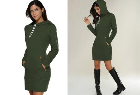 Comfy sweater dress | Met fleece binnenvoering en keuze uit 5 kleuren Groen