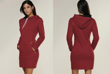 Comfy sweater dress | Met fleece binnenvoering en keuze uit 5 kleuren Rood
