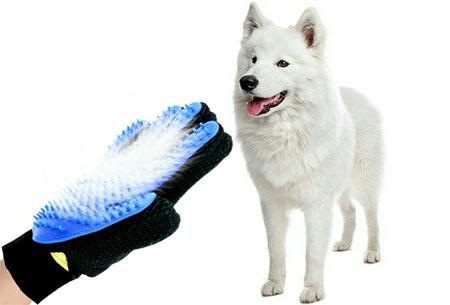 Borstelhandschoen voor huisdieren | Nu 1+1 gratis! - Voor een goede vachtverzorging voor o.a. honden en katten