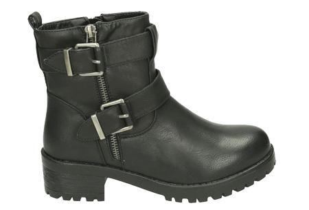 Biker boots   Stoer, stijlvol en tijdloze enkellaarsjes Zwart