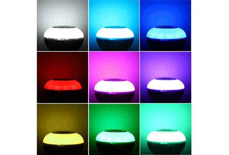 Mood LED lamp | Color changing LED-verlichting met of zonder Bluetooth speaker