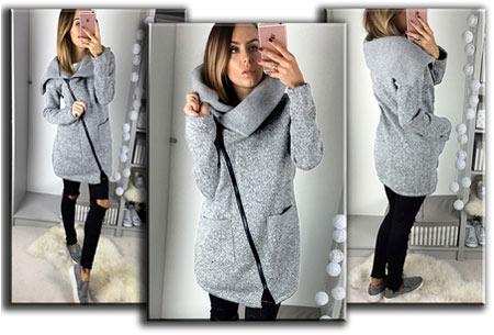 Oversized dames vest   Hip & comfy vest om heerlijk in weg te kruipen! T/m maat 5XL lichtgrijs