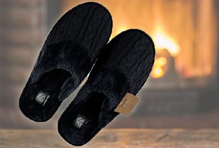 XQ Home pantoffels voor dames en heren   Met heerlijk zachte en warme binnenvoering  marine ♂