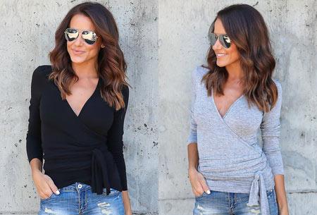 Overslagtop | Hip & vrouwelijk shirt met verleidelijke V-hals