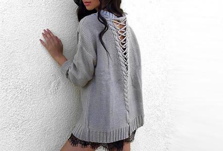 Laced Back trui met enorme korting | Sexy, comfortabel en helemaal on trend!