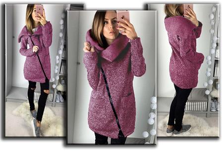 Oversized dames vest | Hip & comfy vest om heerlijk in weg te kruipen! T/m maat 5XL Framboos