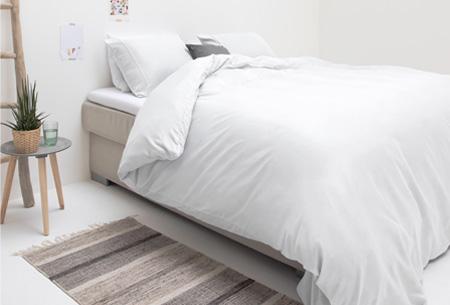 Luxe dekbedovertrekken | Keuze uit 2 modellen en diverse kleuren Monte Carlo wit