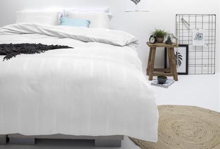 Luxe dekbedovertrekken | Keuze uit 2 modellen en diverse kleuren Montreal wit