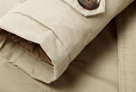 Heren najaarsjas | Stoere & stijlvolle jas met zachte, warme binnenvoering