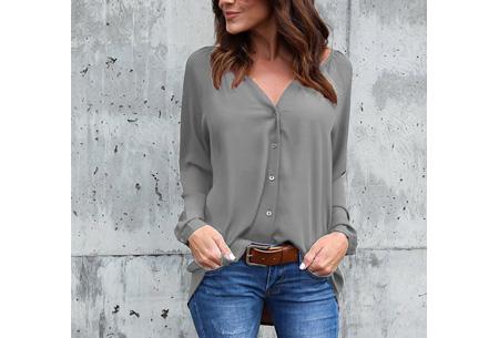 Button blouse | Verkrijgbaar in 8 kleuren  grijs