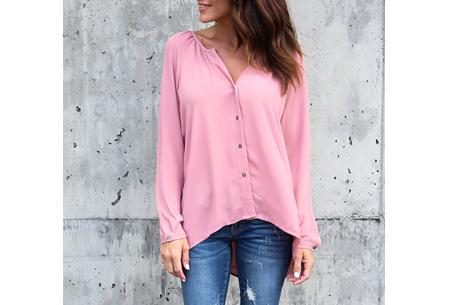 Button blouse | Verkrijgbaar in 8 kleuren  roze
