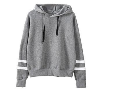 Baseball hoodie | Comfy & hippe sweater met een sportieve look grijs