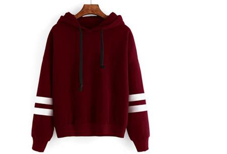 Baseball hoodie | Comfy & hippe sweater met een sportieve look rood