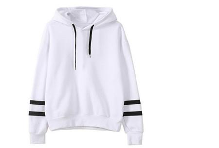 Baseball hoodie | Comfy & hippe sweater met een sportieve look wit