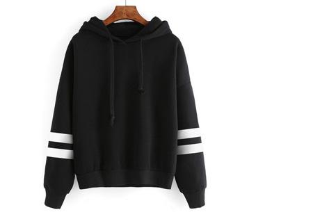 Baseball hoodie | Comfy & hippe sweater met een sportieve look zwart