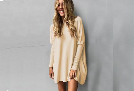 Loose fit pullover | Verdoezelt probleemzones - verkrijgbaar in 7 kleuren  Beige