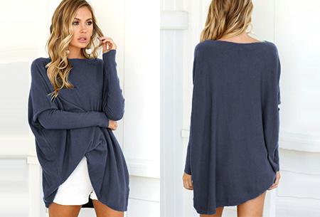 Loose fit pullover | Verdoezelt probleemzones - verkrijgbaar in 7 kleuren  Blauw