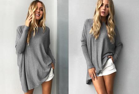 Loose fit pullover | Verdoezelt probleemzones - verkrijgbaar in 7 kleuren  Grijs