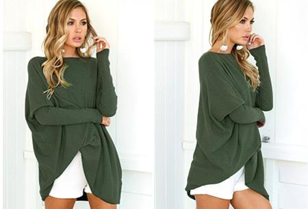 Loose fit pullover | Verdoezelt probleemzones - verkrijgbaar in 7 kleuren  Groen