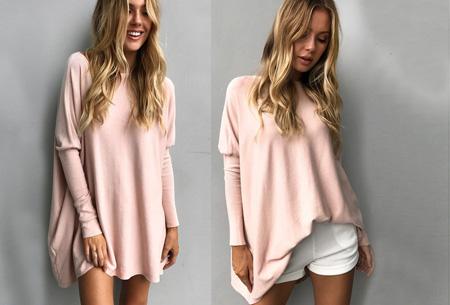 Loose fit pullover | Verdoezelt probleemzones - verkrijgbaar in 7 kleuren  Roze