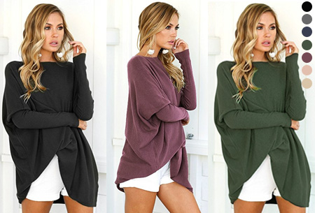 Loose fit pullover <br/>EUR 14.99 <br/> <a href='https://tc.tradetracker.net/?c=24550&m=1018105&a=230468&u=https%3A%2F%2Fwww.vouchervandaag.nl%2FLoose-fit-pullover-dames-trui' target='_blank'>bekijk product</a>