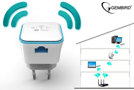 Gembird WiFi repeater 300 Mbps
