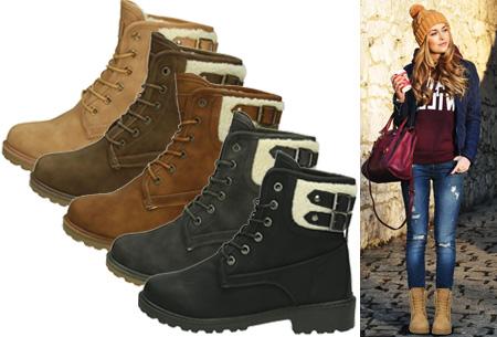 Dagaanbieding: Buckle up gevoerde boots