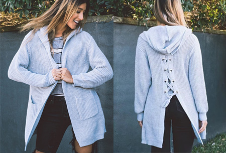 Laced Back cardigan | Warm, comfortabel & helemaal on trend! grijs