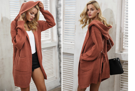 Laced Back cardigan | Warm, comfortabel & helemaal on trend! roestrood