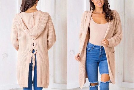 Laced Back cardigan | Warm, comfortabel & helemaal on trend! roze
