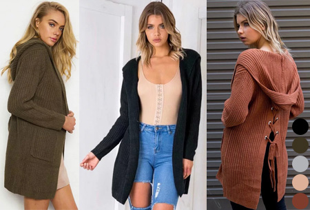 Laced Back cardigan | Warm, comfortabel & helemaal on trend!