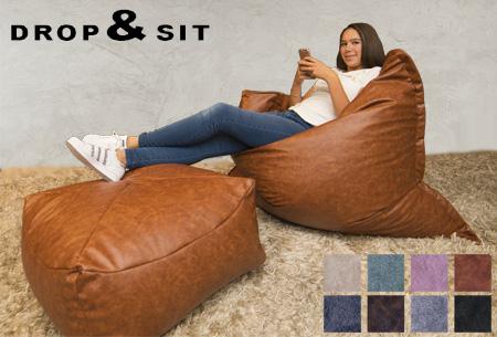 Drop & Sit leather look zitzakken