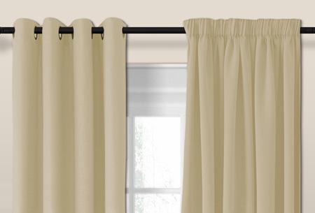 Larson luxe verduisterende gordijnen | Kant en Klaar, verkrijgbaar in verschillende maten en kleuren Light sand grey
