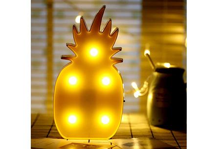 LED lamp in verschillende figuren | Origineel en trendy - keuze uit 13 figuren Ananas