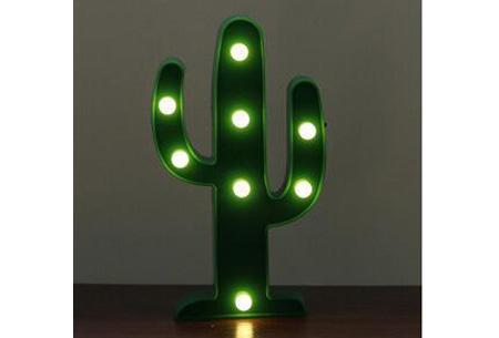 LED lamp in verschillende figuren | Origineel en trendy - keuze uit 13 figuren Cactus