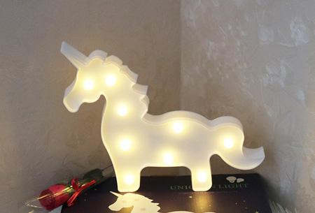 LED lamp in verschillende figuren | Origineel en trendy - keuze uit 13 figuren Eenhoorn staand