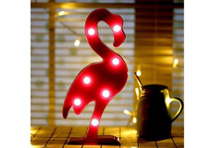 LED lamp in verschillende figuren | Origineel en trendy - keuze uit 13 figuren Flamingo