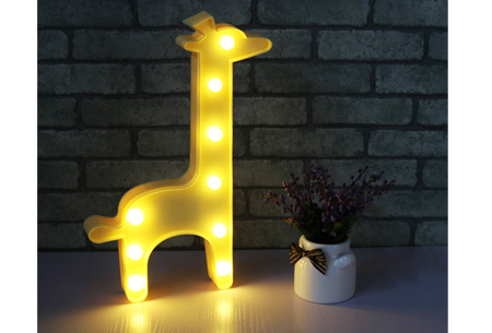 LED lamp in verschillende figuren | Origineel en trendy - keuze uit 13 figuren Giraffe